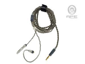 ApeSonic Rain-Cable (Industry Package): Pure copper & Teflon skin, golden-plated MMCX connector & 3.5mm stereo HP jack (do not support call function). It will provide you pure & clear sound.