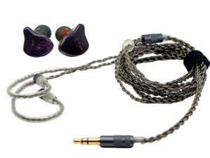 ApeSonic Rain-Purple (In Ear Earbuds ): Hybrid Balanced Armature & Dynamic Drivers, High Resolution, Synthetic Resin Shell, MMCX Connect - Cable Changeable, Hi-Fi & Premium Sound, Purple-Crystal Color