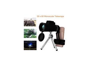 50 x 60 Monocular Telescope, High Powered Monocular with Phone Clip and Tripod- Waterproof Optical Glasses-Ideal for Hunting, Travel, Birdwatching and Hiking