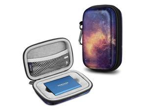 Carrying Case for Samsung T5 T3 SSD Hard Shell Shock Proof Portable Travel Storage Cover Bag for Samsung T5 T3 Portable Solid State Drive Galaxy