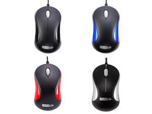 Computer Mouse 2 Pack Mini USB Mouse for Laptop Designed USB Optical Wired Mice for Office and Home use Compatible with Computer Laptop PC Desktop Windows 7810XP Vista and Mac Black Color by