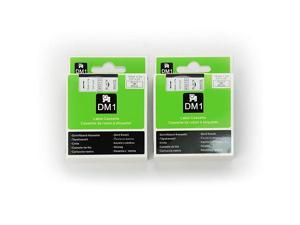 DYMO D1 45013 Label Tape  2 Pack Black on White Label Tape Cartridge Compatible for DYMO Standard D1 45013 Label Manager 12 x 23 12mm x 7m