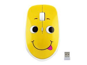 2.4GHz Wireless Mouse Cute Silent Wireless Mouse Portable Optical Mice Cartoon Computer Mouse 3 Adjustable DPI for Laptop Desktop PC (Expression A)