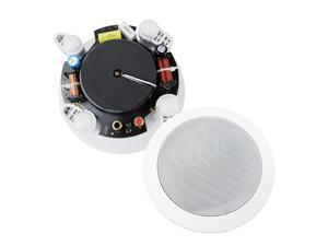4Inch inWallinCeiling 2Way Stereo Sound Speaker with 1quot Silk Dome Tweeter and Crossover NetworkSold as Pair