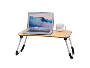 Multifunctional Lap Desk Breakfast Serving Bed Tray Sofa Tray with Foldable Legs Natural Color 100 Solid Bamboo Simple 2Bamboo amp Metal