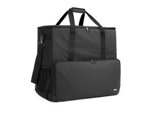 Desktop Computer Travel Bag Carrying Case for Computer Tower PC Chassis Keyboard Cable and Mouse Bag Only Black