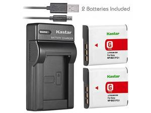 Battery X2 + Slim USB Charger for Sony NPBG1 NPFG1 Battery Sony Cybershot DSCHX5V DSCHX9V DSCW30 DSCW35 DSCW50 DSCW55 DSCW70 DSCW80 DSCW290 DSCH10 H20 H50 H55 H70 H90