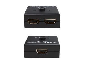 2x1 HDMI Switch 1x2 HDMI Splitter  HDMI Bidirection 1080P 3D full HDCP passthrough Splitter Switcher AB AB AB