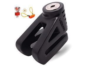 Disc Lock For Motorcycle and Bicycle With 6mm Lock Pin And Remind Cable Heavy Duty Body No Key To LockBlack