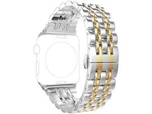 Band Compatible with Apple Watch Series 5 4 40mm 44mm / Series 3 2 1 38mm 42mm for Women Men,Stainless Steel Band for Iwatch Replacement Strap