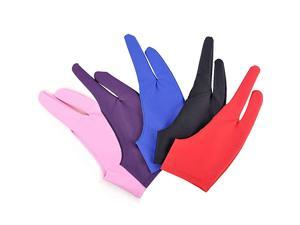 5 Pieces Artist Glove for Drawing Tablet  TwoFinger Tablet Drawing Gloves Digital Artist Gloves for Graphics Pen Drawing Tablet Monitor Light Box Tracing Board