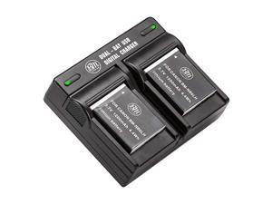 2 Pack NB-6L, NB-6LH Batteries and Dual Battery Charger for Canon PowerShot S120, SX170, SX260, SX280, SX500, SX510, SX520, SX530, SX540, SX600, SX610, SX700, SX710, ELPH 500, D10, D20, D30 Camera