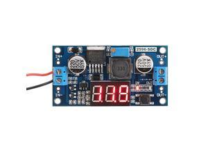to 12v Step Down Converter DROK LM2596 Analog Control Buck Transformer DCDC Voltage Reducer Regulator Module 36V 12V to 5V 2A Power Inverter Volt Stabilizer with Red LED Display Voltmeter