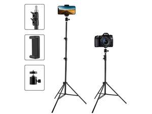 """Tripod Tall, Extend to 82 Inch Tripod with Cell Holder, Tall Tripod for Cell s, Lightweight DSLRs, Digital Cameras and Action Cameras for Taking Photos and YouTube Videos (82"""")"""