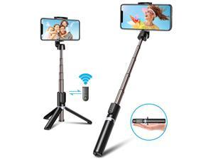 Bluetooth Selfie Stick Tripod Mini Extendable 3 in 1 Aluminum Phone Tripod Selfie Stick with Wireless Remote for iPhone 11 Pro Max11 Pro11XSXS MaxXRX88 Plus76 Galaxy S10S9S8 More