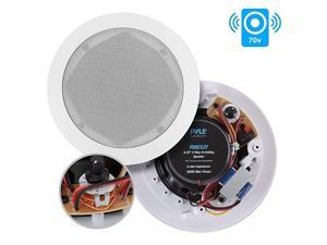 Ceiling and Wall Mount Speaker 65 2Way 70V Audio Stereo Sound Subwoofer Sound with Dome Tweeter 500 Watts inWall inCeiling Flush Design for Home Surround System  PDIC63T White