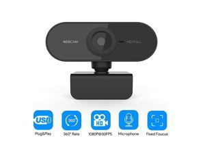Webcam with Privacy Shutter 1080p Streaming Web Camera Autofocus Computer Webcam with Microphone for Skype Video Calling Conferencing Recording