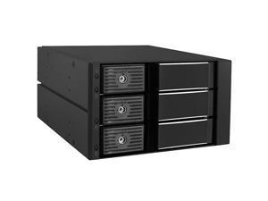 SSHD HD Enclosure Internal 3 Hot Swap Bay Mobile Rack For 35 Solid State Hybrid DriveHDD SATA Enclosure Support SATA IIII SAS III