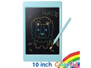 LCD Writing Tablet Colorful Screen 10 inch Electronic Writing Drawing Doodle Board Kids Drawing Tablet Writing Pad Memo Board for Kids and Adults