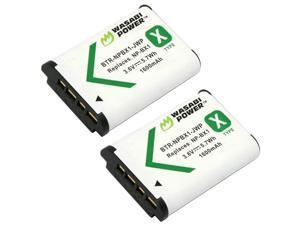 NPBX1 Battery 2Pack for Sony NPBX1M8 CyberShot DSCHX80 HX90V HX95 HX99 HX350 RX1 RX1R II RX100 IIIIIIVVVAVIVII FDRX3000 HDRAS50 AS300 ZV1 and More