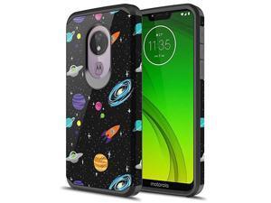 Moto G7 Power Case Moto G7 Supra Case  Hybird Drop Protection Sleek Slim Dual Layer Shockproof Colorful Graphic Armor Case for LG Moto G7 PowerSupra Space