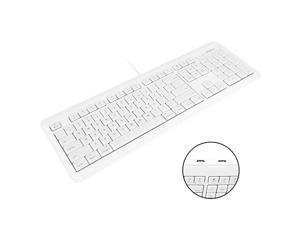 Full Size USB Wired Computer Keyboard with BuiltIn 2Port USB Hub Perfect for your Mouse 16 Apple Shortcut Keys for Mac OS Apple iMac Mac Mini Macbook ProAir XKEYHUB