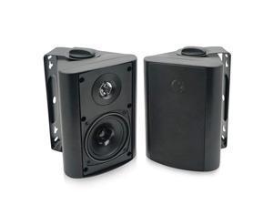 4 Inch Outdoor Indoor Patio Bluetooth Wall Mount Speakers Waterproof (Black)