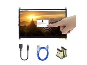 7 Inch IPS Touch Screen for Raspberry Pi 4 1024×600 Capacitive HDMI LCD Touchscreen Monitor Portable Display for Raspberry Pi 4 B 3 B+ Windows 10 8 7 Free Driver