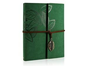 Scrapbook Memories Scrapbook Leaf Soft Leather Album Family Books Special Christmas Gifts Birthday Gifts Unique Gift for WomenGreen