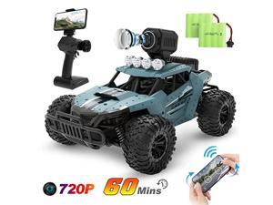 RC Cars DE36W Remote Control Car with 720P HD FPV Camera 116 Scale OffRoad Remote Control Truck High Speed Monster Trucks for Kids Adults 2 Batteries for 60 Min Play Gift for Boys and Girls