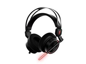 Spearhead OverEar Headphones Micro USB and 35 mm Audio Ports Stereo Sound LED Responsive Lighting ENC Dual Microphones Headset with Ergonomic and Comfortable Headband