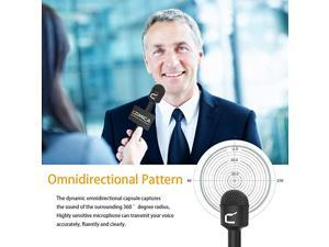 HRMC Interview Microphone Dynamic Omnidirectional Microphone with 3 Pin XLR Connector Reporter Microphone for Cameraamp camcorder Handheld Mic for Interviews Reports presentationand Music