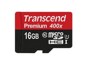 16GB MicroSDHC Class 10 UHS-1 Memory Card with Adapter Up to 60MB/s (TS16GUSDU1PE)