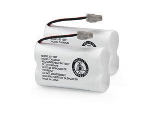 BT1007 24V 500mAh Cordless Phone Battery Compatible with Uniden D1484 DCX150 DECT1500 BT1015 Panasonic HHRP506 HHRP506A Handset Telephone2 Pack