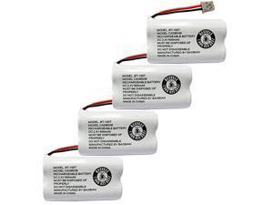 BT1007 BT-1007 BBTY0651101 Cordless Phone Battery Compatible with Uniden BT904 BT-904 BT1015 BT-1015 BBTY0460001 BBTY0510001 BBTY0624001 BBTY0700001 Panasonic HHR-P506 HHR-P506A(Pack of 4)