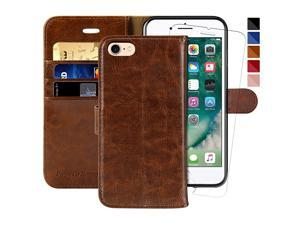 iPhone 7 Wallet CaseiPhone 8 Wallet CaseiPhone SE 2020 Case47inch Glass Screen Protector Included Flip Folio Leather Cell Phone Cover with Credit Card Holder for Apple iPhone 78SE2
