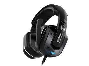 G909PRO 7.1 Virtual Surround Sound USB Gaming Headset Over Ear Bass Headphone for PS4,PC with Mic,Volume Control,LED(Black)