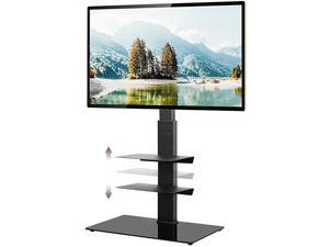 Floor TV Stand with Swivel Mount Height Adjustable for 32 37 42 47 50 55 60 65 inch Plasma LCD LED Flat or Curved Screen TVsCable ManagementRemovableAdjustable Shelf