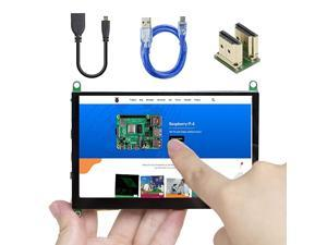 5 Inch Touch Screen for Raspberry Pi 4 800×480 Portable Capacitive HDMI LCD Touchscreen Display Monitor for Pi 4 B 3 B+ Windows 10 8 7 Free Driver