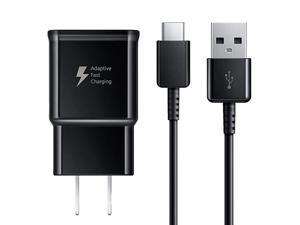 Fast Charger Compatible Samsung Galaxy S9 S9 Plus S8 S8+ S10 S10e Note 8 Note 9 Note 10 Wall Charger Adapter Block with USB Type C Cable Kit