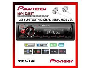 InDash BuiltIn Bluetooth Media Player Front USB Auxiliary MP3 Pandora AMFM Radio Built In iPod iPhone and iPad Controls Arc Phone App Car Stereo Receiver