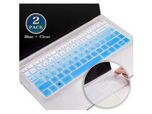 Pack Keyboard Cover Skin for 00 019 HP Pavilion 14 Inch Laptop Cover HP Pavilion 14 Inch Series HP Pavilion x360 14 Inch 14MBA 14MCD 14BF 14BW Keyboard Protector SkinBlue+Clear