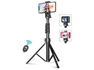 Phone Tripod 559 Extendable Selfie Stick Tripod Bluetooth AllinOne Travel Tripod with Remote Compatible with iPhone 11 Pro Max11 Pro11XSXS MaxXRX8 Galaxy S20S10 Camera Gopro