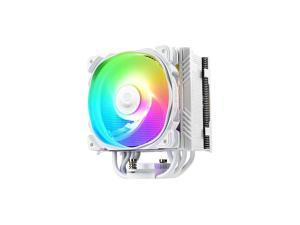 ETST50 Axe Addressable RGB CPU Air Cooler 230W+ TDP for IntelAMD Univeral Socket 5 Direct Contact Heat Pipes 120mm PWM Fan White ETST50AWARGB