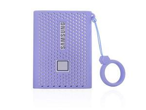 Storage Travel Case Silicone Protective Cover for Samsung T7 Touch Portable SSD 500GB 1TB 2TB External Solid State Drives Purple
