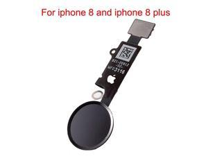 Compatible Home Button Main Key with Flex Cable Replacement for iPhone 8 and 8 Plus Black or Space Grey