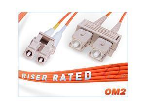 9M OM2 LC SC Fiber Patch Cable | 1Gb Duplex 50125 LC to SC Multimode Jumper 9 Meter 2952ft | Length Options 05M300M | 1gb 10gb mmf upc sfp+ 1gbase mm dplx pvc ofnr om2lcsc