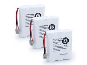 BT-905 Rechargeable Cordless Handset Phone Battery for BT905 BT-800 BBTY0663001 BT-1006 BBTY-0444001 BP-800 BP-905 3.6v 600mAh Ni-CD (3 Pack BT905)