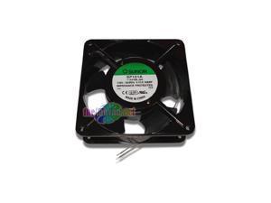 SP101A-1123HBL-GN AC Fan Ball Flange Mount, 115V, 0.21A-0.18A, 20W-18W, 50 Hz-60 Hz, 2750 rpm-3050 RPM, 120 mm L x 120 mm W x 38 mm H