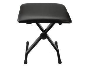 Adjustable Folding Piano Bench Stool Seat Black